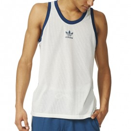 Débardeur Blanc Tank Tennis Homme Adidas