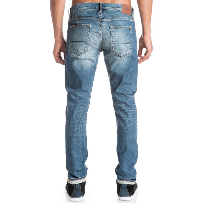 Jean-Skinny-32-034-Zeppelin-Medium-Blue-Homme-Quiksilver