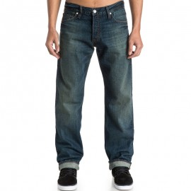 """Jean Relaxed 32"""" High Force Vintage Green Homme Quiksilver"""