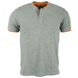 Polo col Mao gris Homme Crossby
