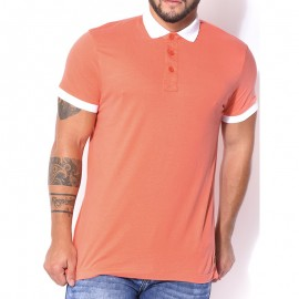 Polo Orange Memo Homme Crossby