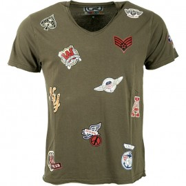 Tee Shirt Kaki² Patch Homme Crossby