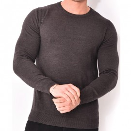 Pull Gris Slash Homme Crossby