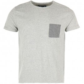 Tee shirt Neppy Gris chiné Homme Crossby