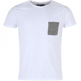 Tee shirt Neppy blanc chiné Homme Crossby