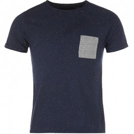 Tee shirt Neppy marine chiné Homme Crossby