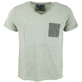 Tee shirt MONTY gris chiné Homme Crossby
