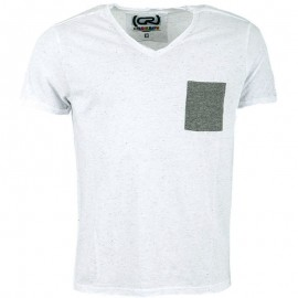 Tee shirt MONTY blanc chiné Homme Crossby