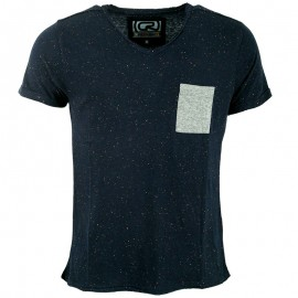 Tee shirt MONTY marine chiné Homme Crossby