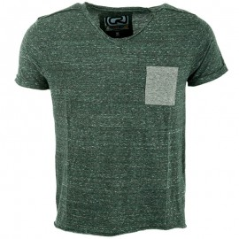 Tee shirt MONTY vert chiné Homme Crossby