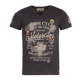 Tee Shirt Gris Choper Homme Crossby