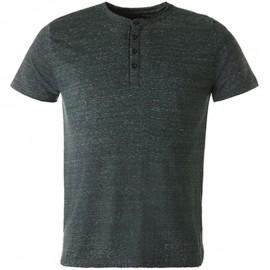 Tee shirt RENO vert chiné Homme Crossby
