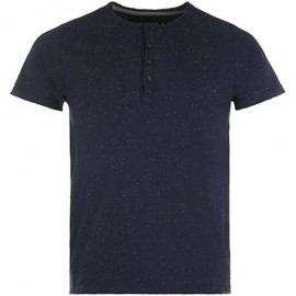 Tee shirt RENO marine chiné Homme Crossby