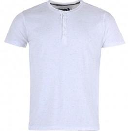 Tee shirt RENO blanc chiné Homme Crossby