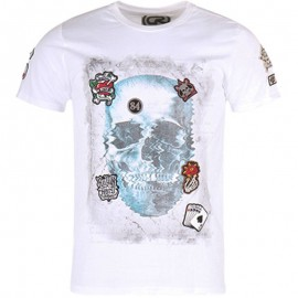 Tee Shirt CROWN blanc Homme Crossby