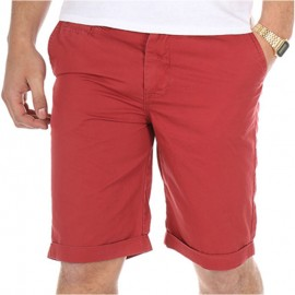 Bermuda chino TOMMY bordeaux Homme Crossby