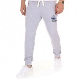 Pantalon molleton KELLAN gris clair Homme Crossby