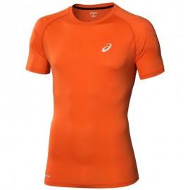 Tee Shirt Orange Speed Short Sleeve Top Running Homme Asics