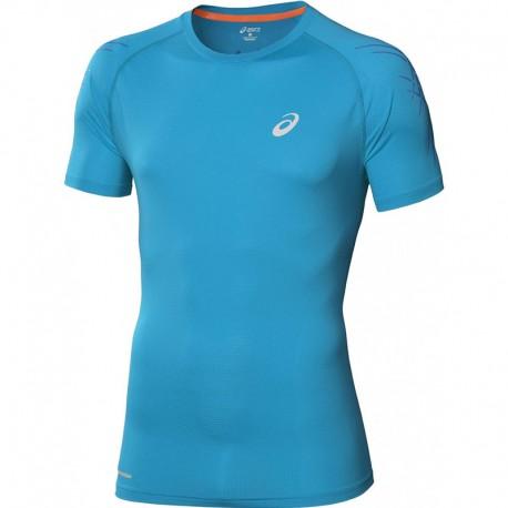 asics t shirt bleu