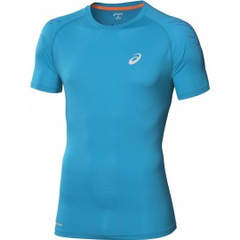 Tee Shirt Bleu Speed Short Sleeve Top Running Homme Asics