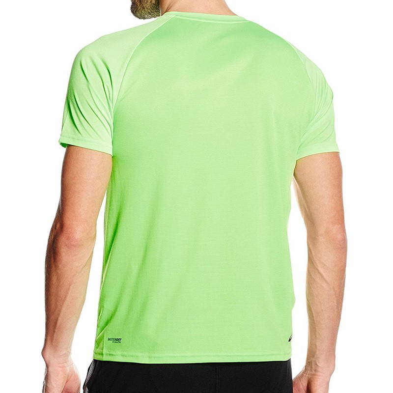 tee shirt vert performance running homme asics maillots de sport. Black Bedroom Furniture Sets. Home Design Ideas