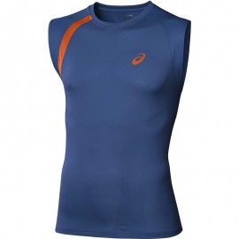 Debardeur Bleu Performance Sleeveless Running Homme Asics