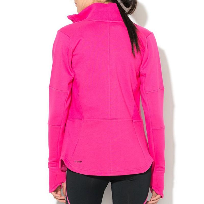 Veste running femme rose
