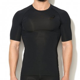 Lycra Noir Inner Muscle Short Sleeve Top Running Homme Asics