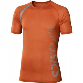 Tee Shirt Orange Performance Multi Graphic Running Homme Asics