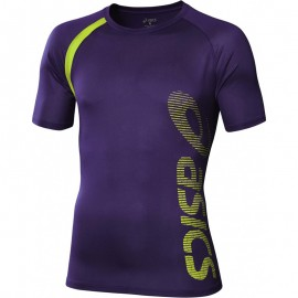 Tee Shirt Violet Performance Multi Graphic Running Homme Asics