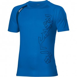 Tee Shirt Bleu Performance Multi Graphic Running Homme Asics