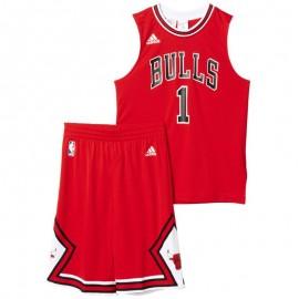 Ensemble Maillot/Short rouge D. ROSE Chicago Bulls Basketball Garçon Adidas