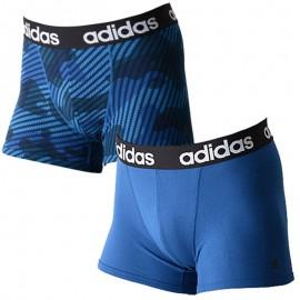 Lot de 2 Boxers Homme bleus Adidas