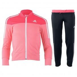 Survêtement Entrainement Fille rose Adidas