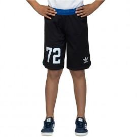 Short réversible bleu  Basketball Garçon Adidas
