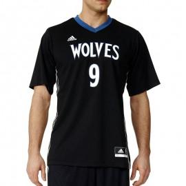 Maillot Minnesota Timberwolves Ricky Rubio noir Basketball Homme Adidas
