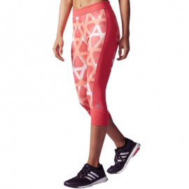 Collant 3/4 TRIOVER Entrainement rose Femme Adidas