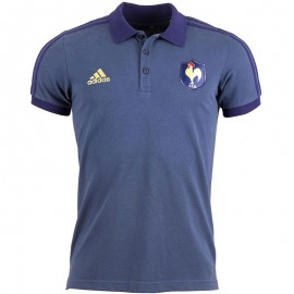 Polo FFR Rugby marine Homme Adidas