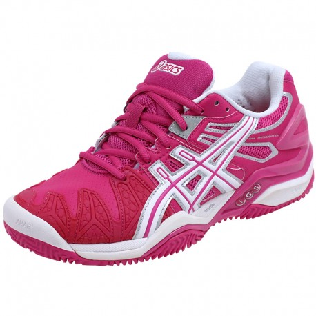 Chaussures Rose Gel Resolution 5 Clay Tennis Femme Asics