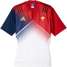Maillot réplica Rugby XV de France rouge Femme Adidas