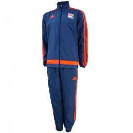 Survêtement Olympique de Lyon marine Football Homme Adidas