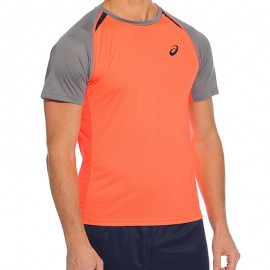 Tee shirt Orange Resolution Top Tennis Homme Asics