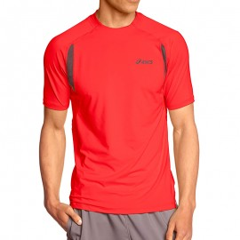 Tee Shirt Rouge Race SS Top Running Homme Asics