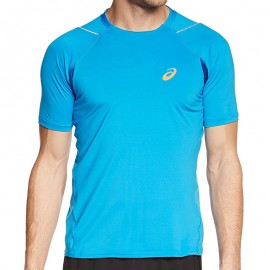 Tee Shirt Bleu Race SS Top Running Homme Asics