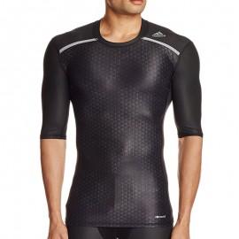 Tee-shirt de Compression Entrainement TF CHILL GFX noir Homme Adidas