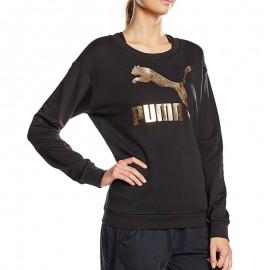 Sweat Logo crew noir Femme Puma