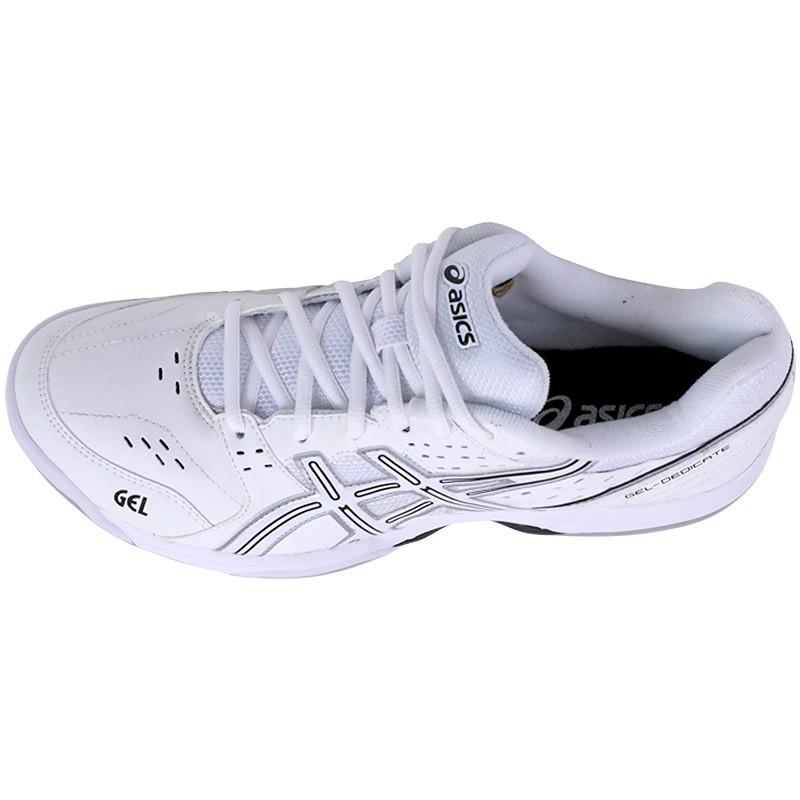 Asics Chaussures Indoor Tennis 3 Chaussu Homme Blanc Gel Dedicate DYWHe29EI