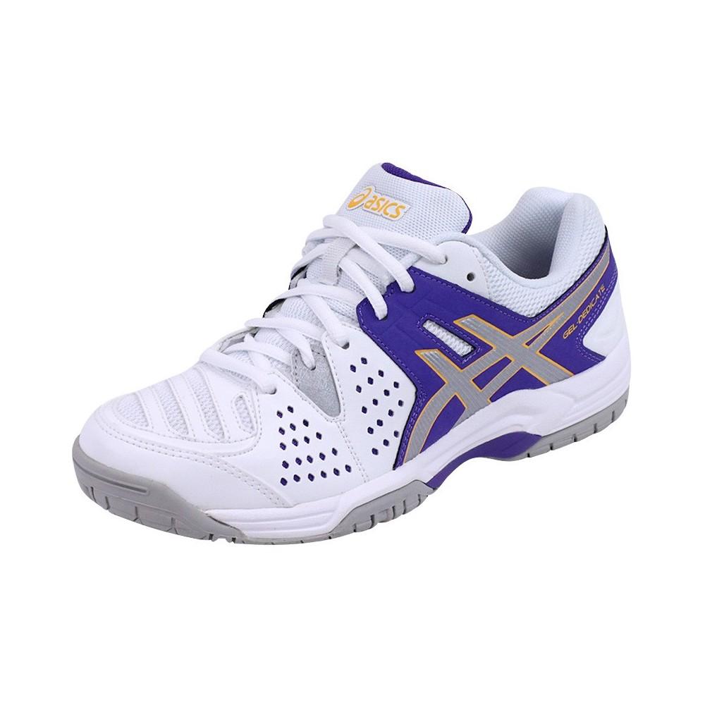 Eur 4 Asics Tennis Violet Femme Blanc 35 Chaussures Gel Dedicate wv0NOm8n