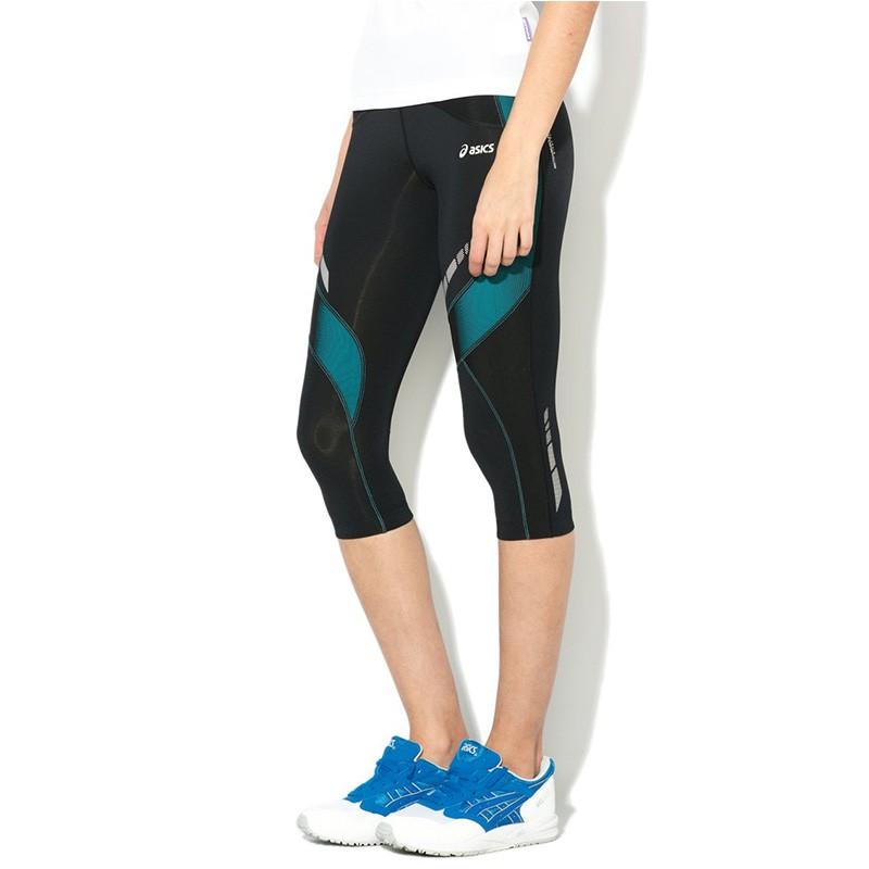 pantacourt legging noir balance knee tight running femme asics pa. Black Bedroom Furniture Sets. Home Design Ideas