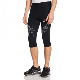 Pantacourt Legging Noir Stripe Kneetight Running Homme Asics